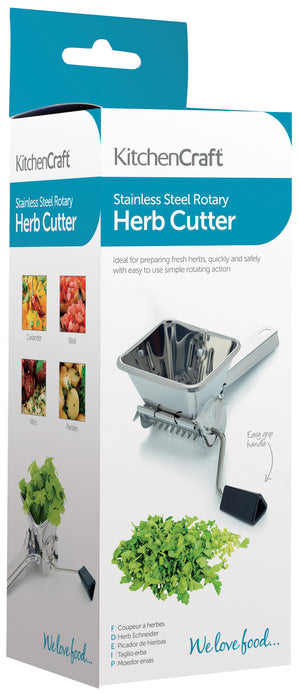 Kitchencraft KCHERBSS Stainless Steel Herb Mill / Mint Cutter