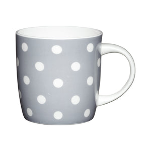 Kitchencraft KCMBAR35 Fine Bone China Grey Spots Barrel Mug
