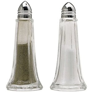 Kitchencraft KCSNPCAFE Glass Salt and Pepper Shakers Set of 2