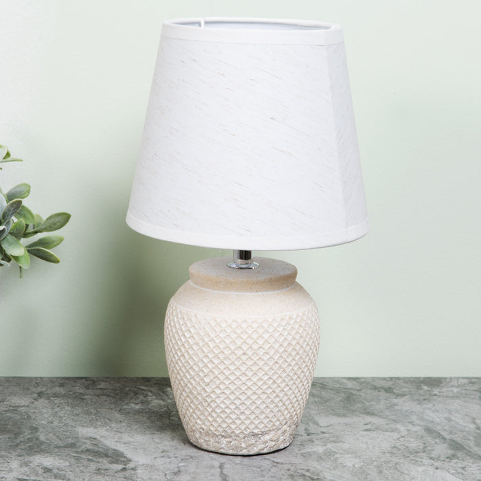 Widdop L1143 Home Living Moroccan Table Lamp - White Shade