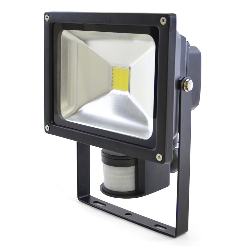 Lloytron L8512BP Wallmountable 20w LED Flood Light (1600lm) with PIR