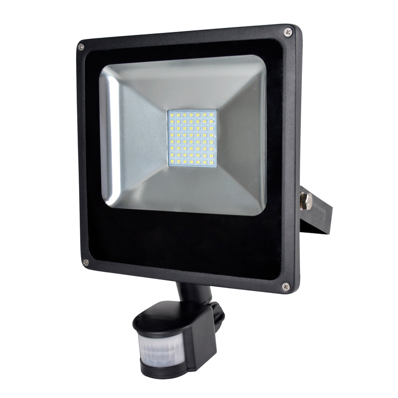 RapidResponse L8513DP 30w Slimline LED Floodlight with PIR & 1m Cable