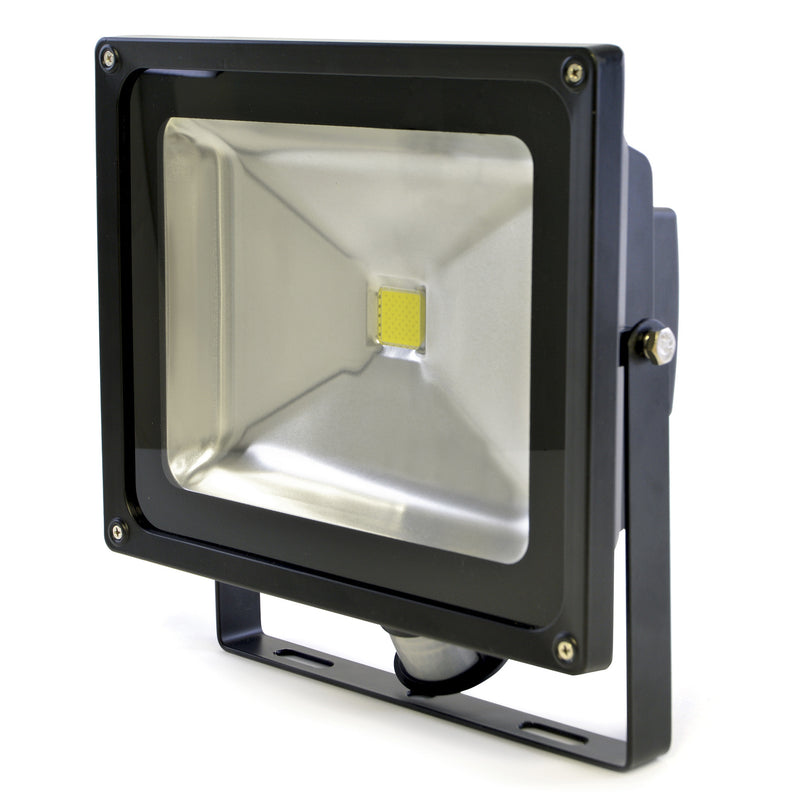 Lloytron L8515BP Wallmountable 50w LED Flood Light (4000lm) with PIR