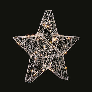 Premier 30 LED Lit Wire Star 38cm