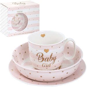 Lesser & Pavey LP41027 Mad Dots Hearts Design Baby Girl Gift Set
