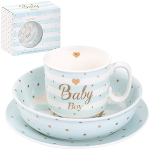 Lesser & Pavey LP41036 Mad Dots Hearts Design Baby Boy Gift Set