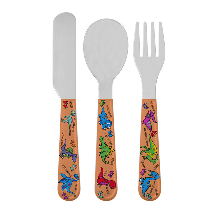 Lesser & Pavey LP42489 Dinosaurs Knife, Fork & Spoon Cutlery Set