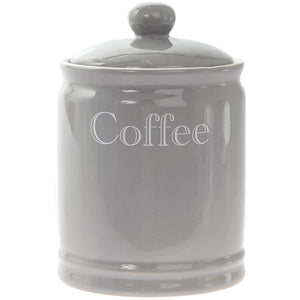 Lesser & Pavey LP42670 Grey Classic Coffee Canister / Jar