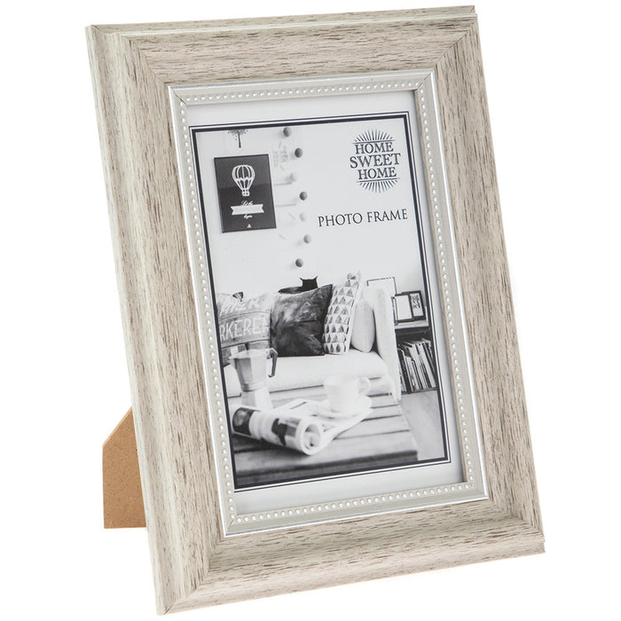 Lesser & Paver Home Sweet Home Wood with Silver Bead Photo Frame - Various Sizes