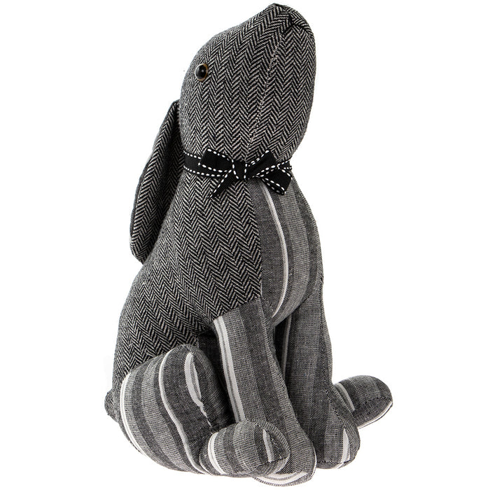Lesser & Pavey LP43235 Grey Stripes Sitting Hare Door Stop