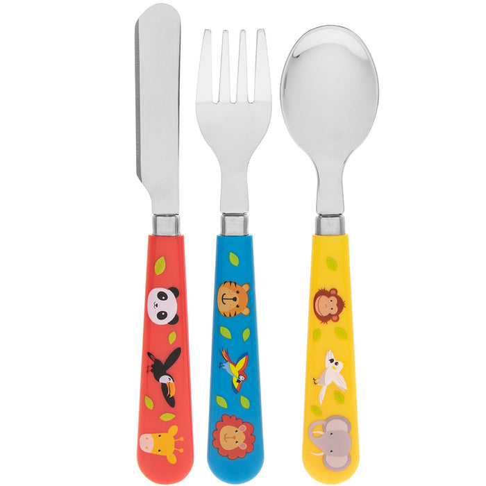Lesser & Pavey LP43442 Zoo Animals Knife, Fork & Spoon Cutlery Set