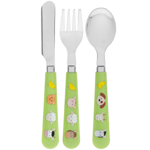 Lesser & Pavey LP44202 Farm Animals Knife, Fork & Spoon Cutlery Set