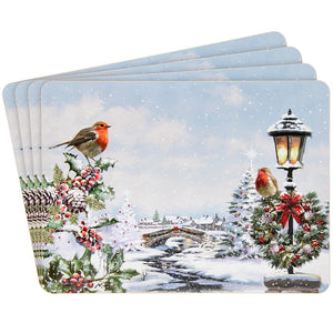 Lesser & Pavey LP51007 Christmas Robins Placemats - Set of 4