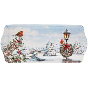 Lesser & Pavey LP51009 Christmas Robins Melamine Tray - Medium