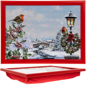 Lesser & Pavey LP51013 Christmas Robins Laptray