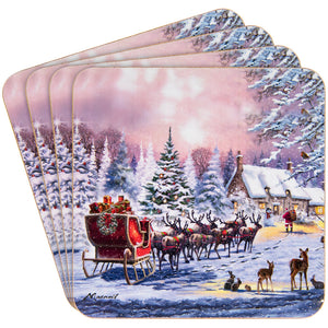 Lesser & Pavey LP51066 The Magic Of Christmas Coasters - Set of 4