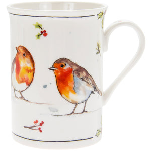 Lesser & Pavey LP51090 Winter Robins Fine China Mug