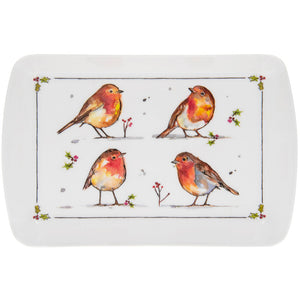 Lesser & Pavey LP51098 Winter Robins Melamine Tray - Small