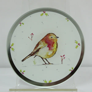Lesser & Pavey LP51113 Winter Robins Candle Plate 10.2cm