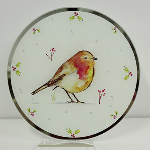 Lesser & Pavey LP51114 Winter Robins Candle Plate 20.6cm