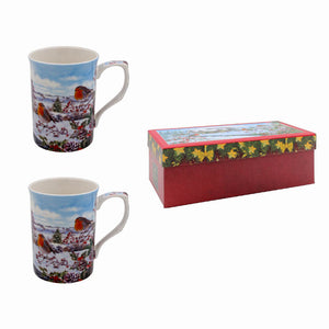 Lesser & Pavey LP51502 Robins Fine China Mugs - Set of 2