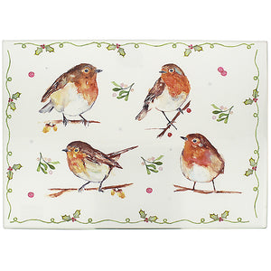 Lesser & Pavey LP51604 Winter Robins Cutting Board