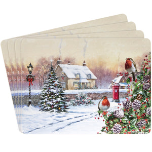 Lesser & Pavey LP68054 Christmas Robins Placemats - Set of 4