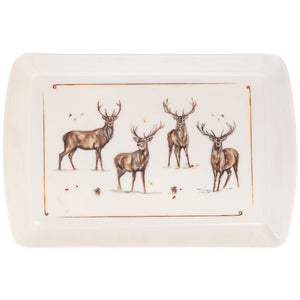 Lesser & Pavey LP68234 Winter Stags Melamine Tray - Small