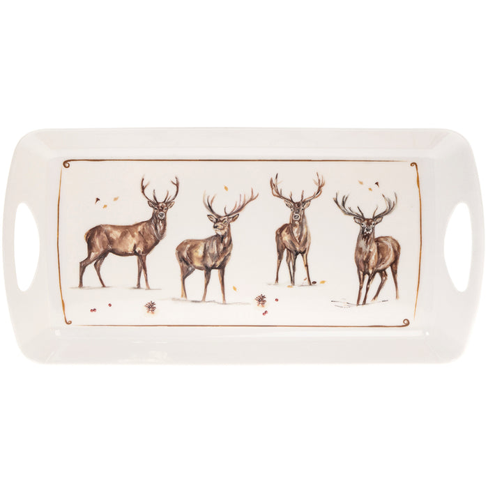 Lesser & Pavey LP68235 Winter Stags Melamine Tray - Medium