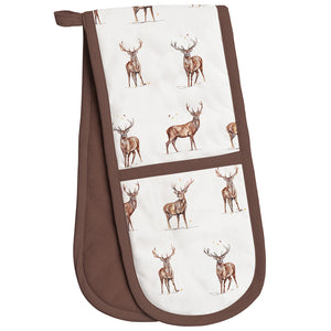 Lesser & Pavey LP68513 Winter Stags Double Oven Gloves