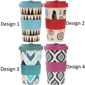 Lesser & Pavey LP87003 Eco Bamboo Travel Mug 600ml - Various Designs