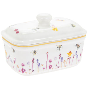 Lesser & Pavey LP93887 Fine China Butter Dish - Busy Bees