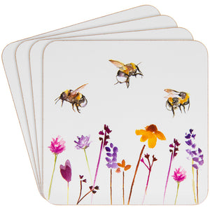 Lesser & Pavey LP93888 Set of 4 Coasters - Busy Bees