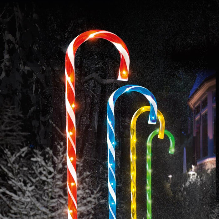 Premier Candy Cane LED Path Lights - Pkt 4