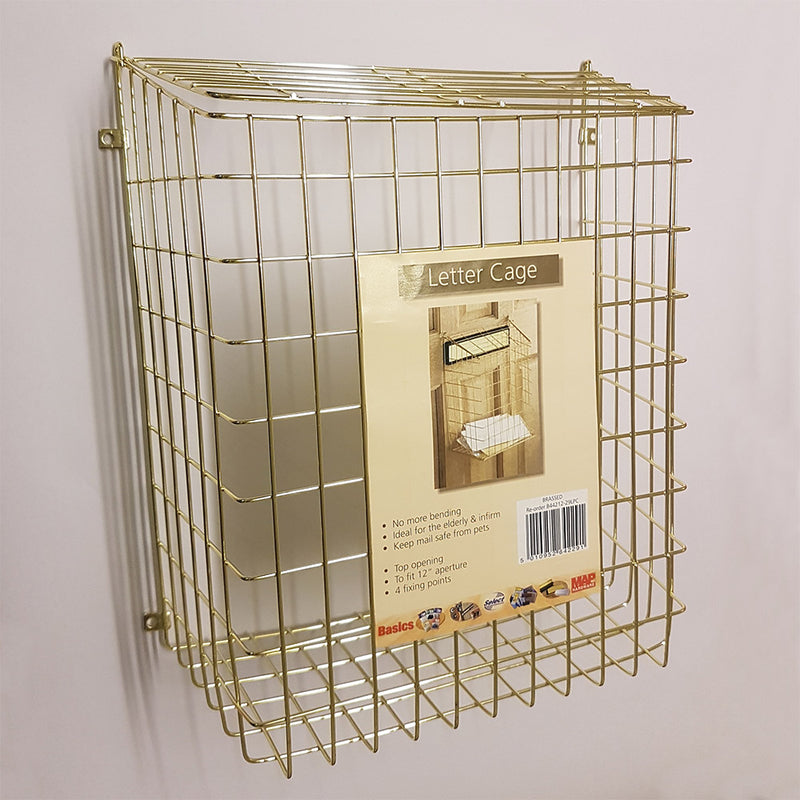 Wire Letter Cage B44212 Brassed Finish