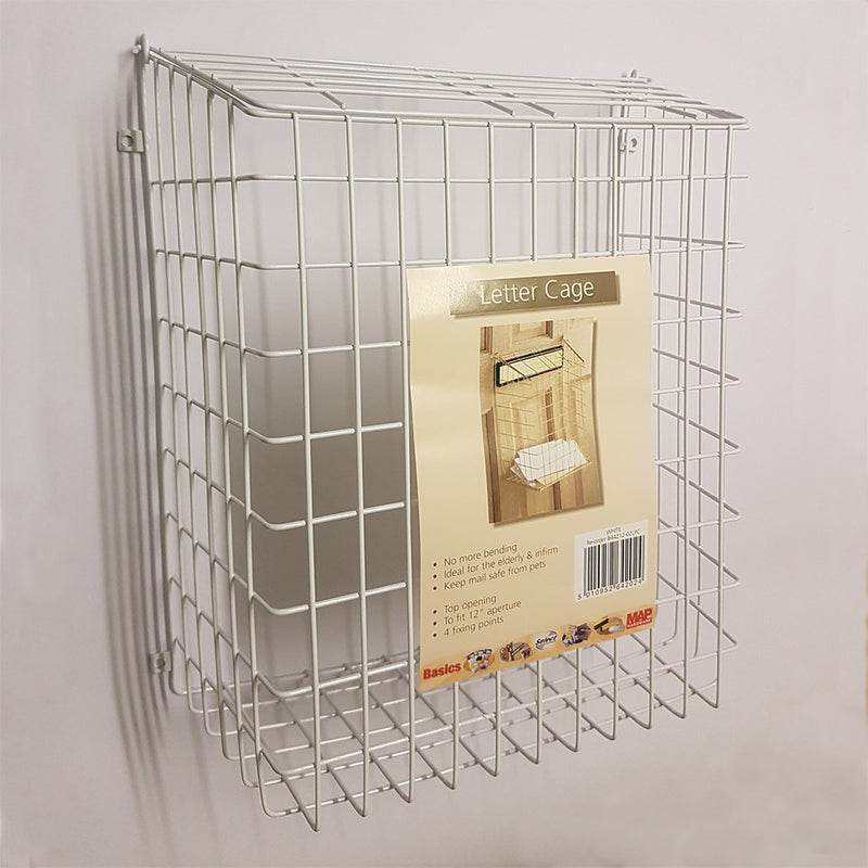 Wire Letter Cage B44212 White Finish