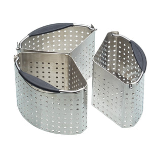MasterClass MCSAUDIV Saucepan Divider Baskets Stainless Steel Set of 3