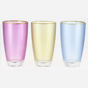 Fonte Moliere Long Drinks Glass 370ml - Pk3 assorted