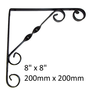 Ornamental Scroll Shelf Bracket Black - Various Sizes