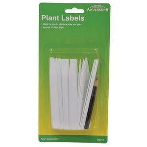 Andersons PB012 Plant Labels & Pencil 125mm - 50pk