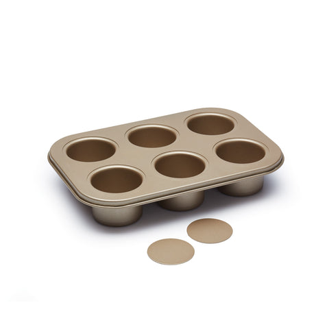 Paul Hollywood PHHB102 Non-Stick Six Hole Loose Base Deep Baking Tin