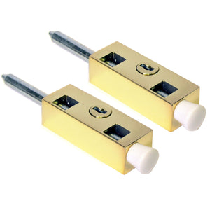 Sterling PLB202 Multi-Purpose Door Bolts Pkt2 - Polished Brass