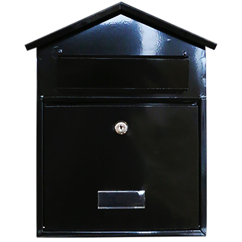 Harewood POST76B Post Box - Black