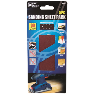 Pro-User SA115 Sanding Sheet 80g Pack of 5