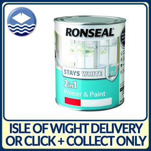 Ronseal Stays White 2 in 1 Satin 750ml Pure Brilliant White