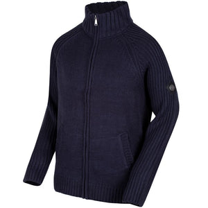Regatta Kaeden RMK012 Chunky Knit Cardigan Navy - Various Sizes
