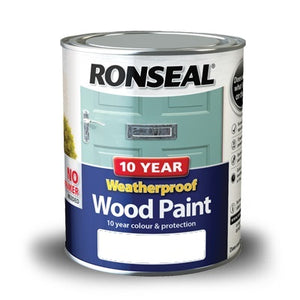 Ronseal Weatherproof 10 Year Exterior Wood Paint 750ml - Various Colours
