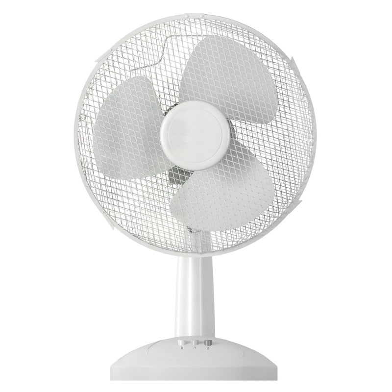 "Oscillating Desk Fan 12"" - WHITE"