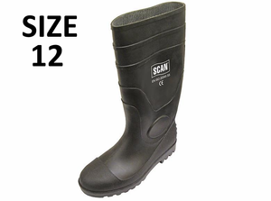 Scan Safety Wellingtons Black - Sizes 6 to 12