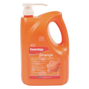 Swarfega SOR4LMP Orange Hand Cleaner Pump Top Bottle 4 Litre